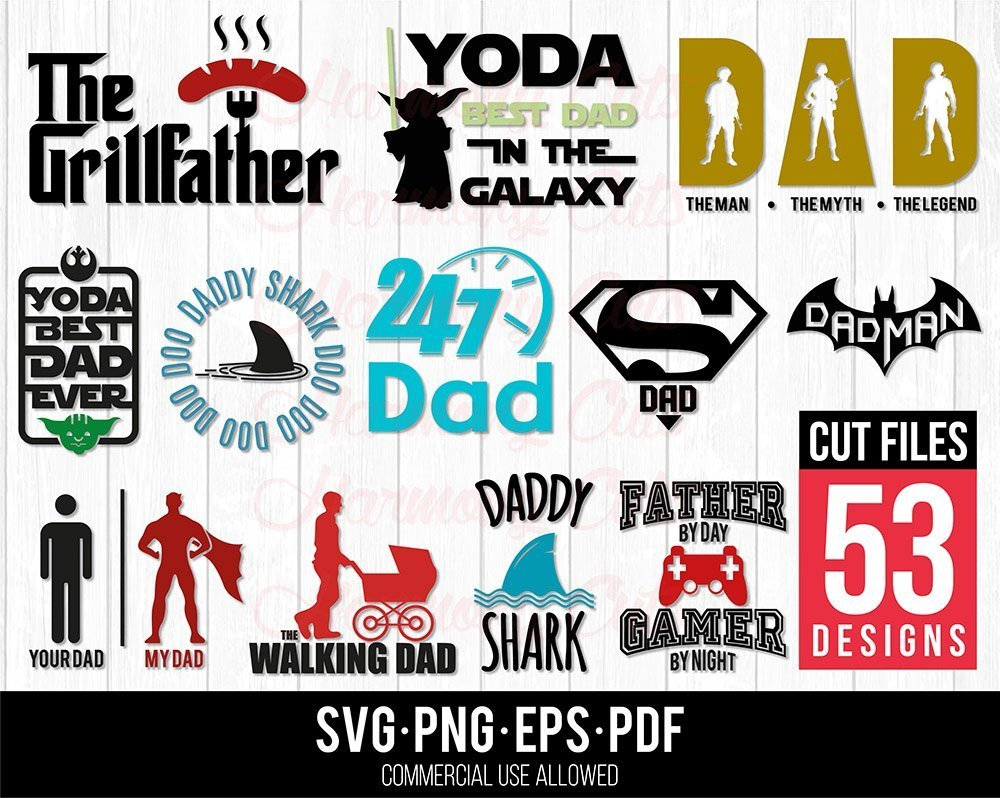 Free Svg, eps and dxf cutting files for cricut & silhouette crafters. Father S Day Svg Bundle Svg Bazaar SVG, PNG, EPS, DXF File